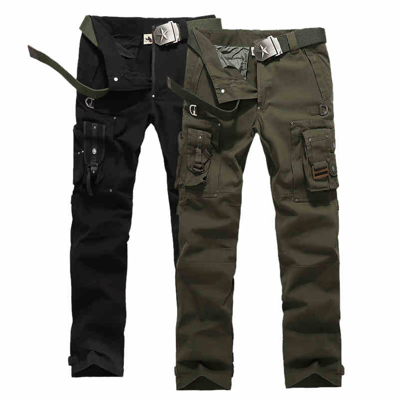 Модные Для мужчин S на открытом воздухе камуфляж Военная Униформа армейская хлопок multi-карман тактические Брюки карго Для мужчин рабочих Мо...