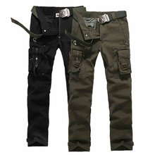 Mode Mens Freien Camo Military Armee-kampf Baumwolle multi-tasche Tactical Cargo Pants Men Arbeiten Hose Lässige Sweatpants