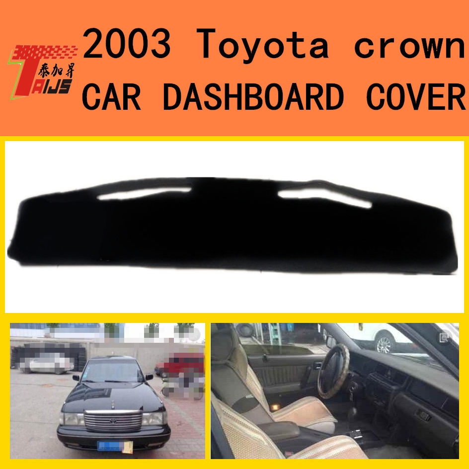 TAIJS car dashboard mat cover for Toyota Crown Left hand drive Fashion design Auto dashboard pad rug for Toyota Crown 2013