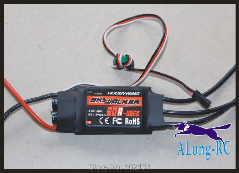 Free shipping   high quality Hobbywing skywalker  60A(2-6s) brushless ESC-for RC airplane model/hobby plane/ spare part free shipping 125a brushless esc for rc airplane hobby plane model edf plane