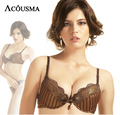 2016 New Brand Sexy Push Up Bra Set Women Intimates Set,Luxury Lace Stripe Deep v-neck Adjustable Bra With Thong Set BS231
