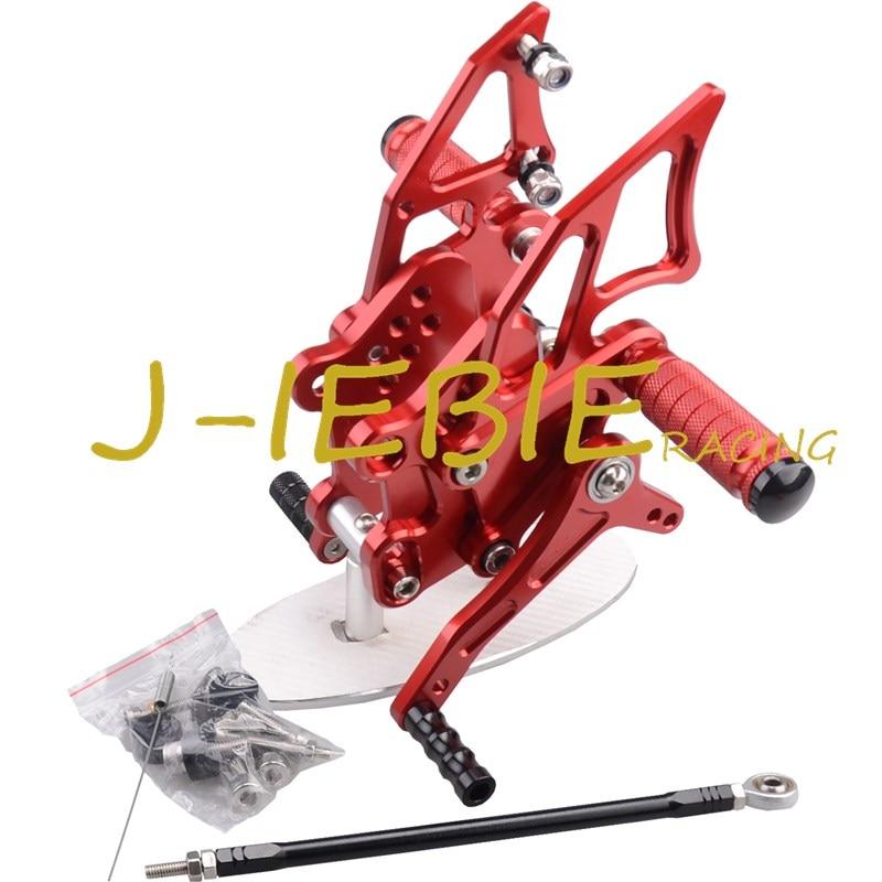 CNC Racing Rearset Adjustable Rear Sets Foot pegs Fit For Kawasaki NINJA EX300 300R 2013 2014 2015 RED