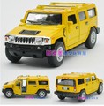 Candice guo! New arrival super cool 1:40 mini Hummer H2 SUV car alloy model car toy 1pc