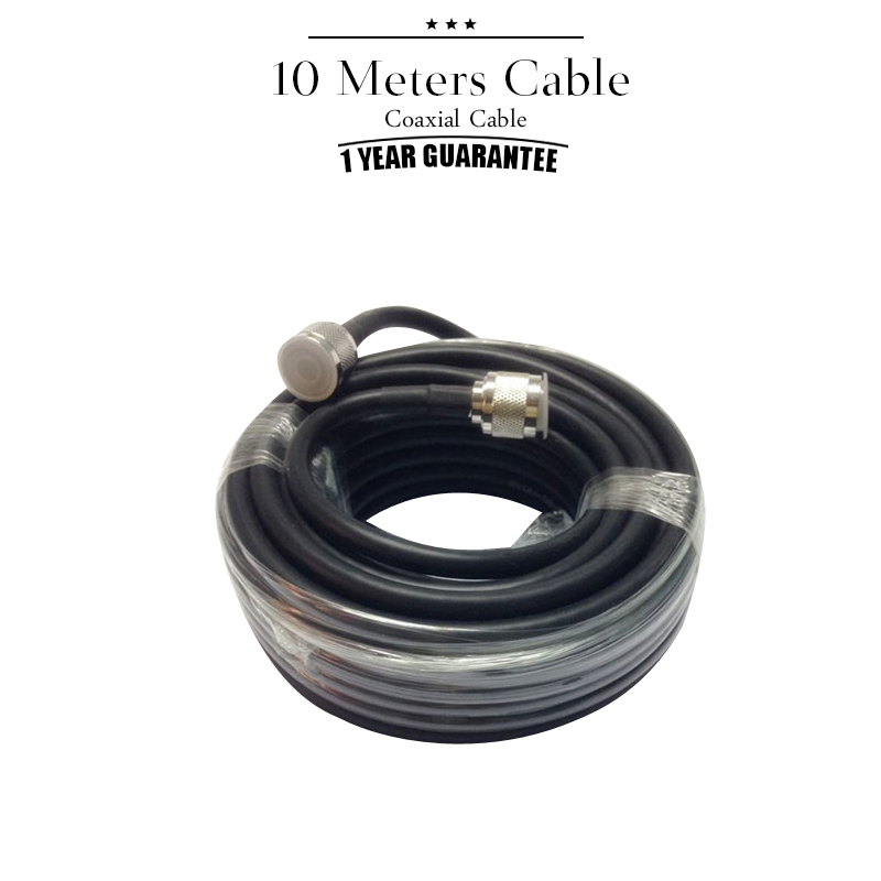 10 Meters Coaxial Cable N To N Male For Mobile Phone Signal Booster Repeater Amplifier Antenna 2G 3G 4G Black Color 5D#38