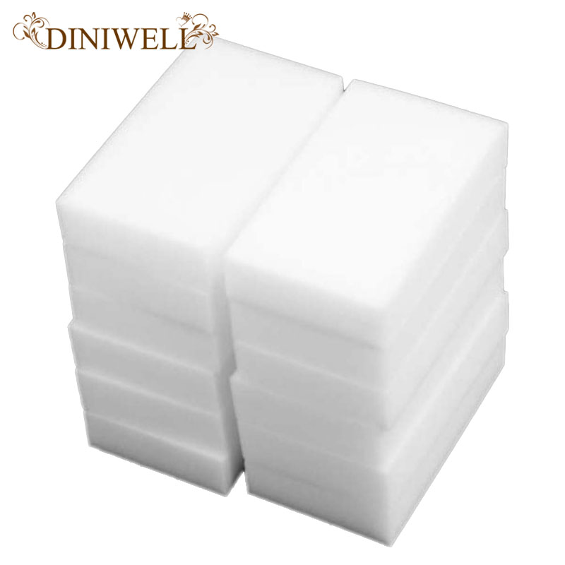 DINIWELL 20Pcs Magic Super  eraser Clean Melamine Sponge Car Wash Cleaner Stain Remover Pad Natural Eco Home Kitchen Cleaning