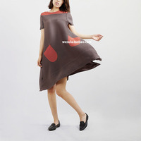 FREE SHIPPING Fashion fold short sleeved dress more tees in bud dress IN STOCK