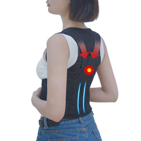 1 Pcs Posture Corrector Magnetic Back Support Belt Black Tourmaline Lumbar Belt Brace For Child Student
