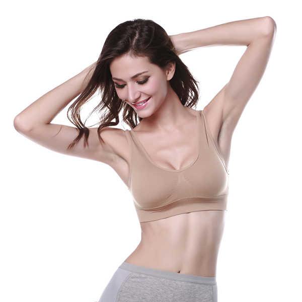 7ac37f42f9acf Spring Sexy Tops Women Bust Bra Push Up Seamless Cotton Fitness Bra Sleeping  Active Underwear