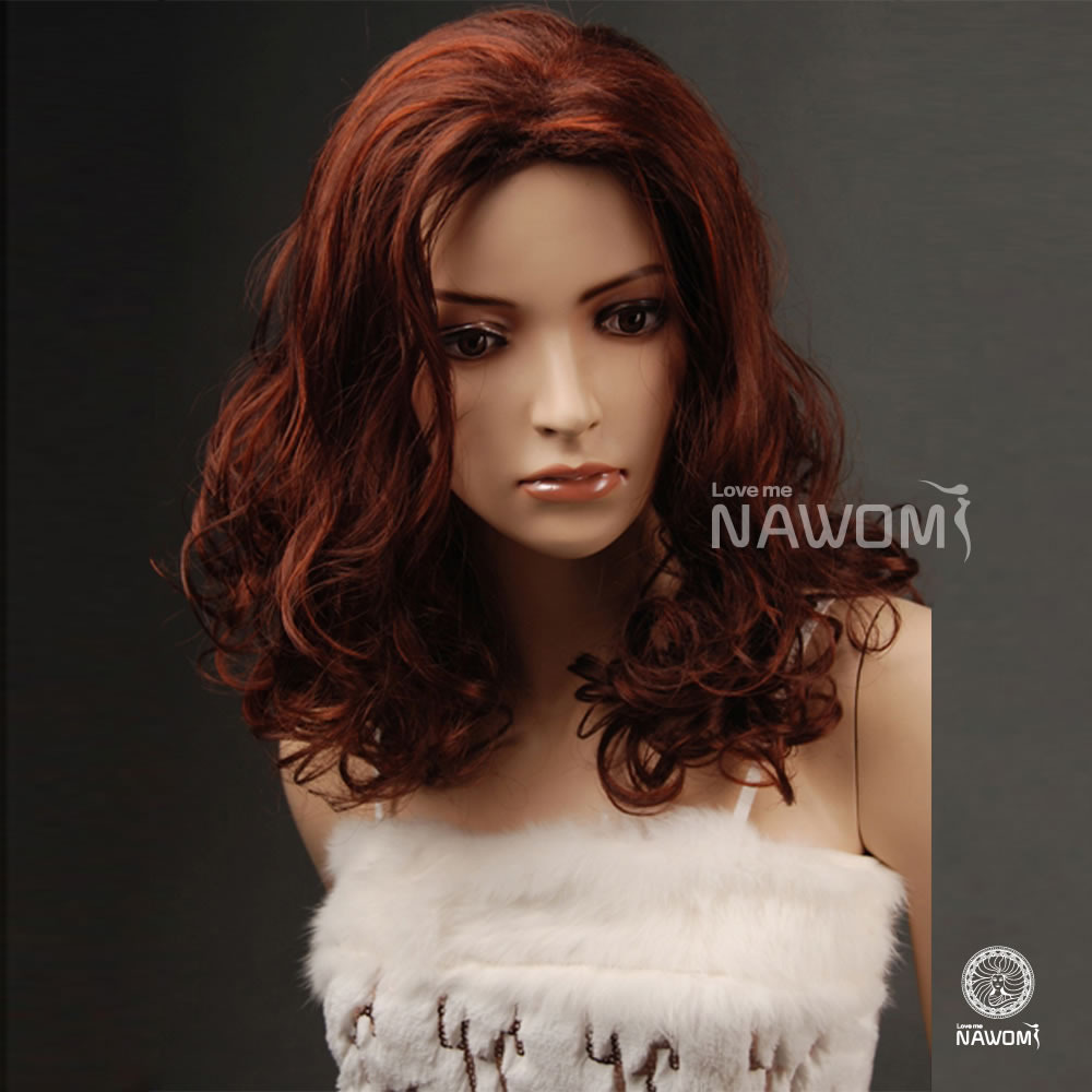 2015 Free Shipping Red Brown Curly Wigs For Women ...