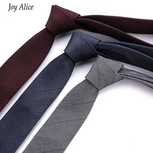 купить 2017 Fashion Design Brand 6 cm necktie cotton ties for Men wedding striped corbatas party slim gravatas tie Neck tie T29-2 дешево