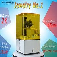 Tianfour новые ювелирные изделия № 1 УФ SLA/DLP/ЖК дисплей 3D принтер 2 К 45um Высокое разрешение подходит для ювелирные изделия стоматологии Фотон