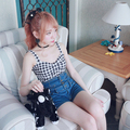 Princesa dulce lolita BOBON21 superior verano actualizar varios colores princesa a cuadros lindo tops de algodón para uso diferente T1382