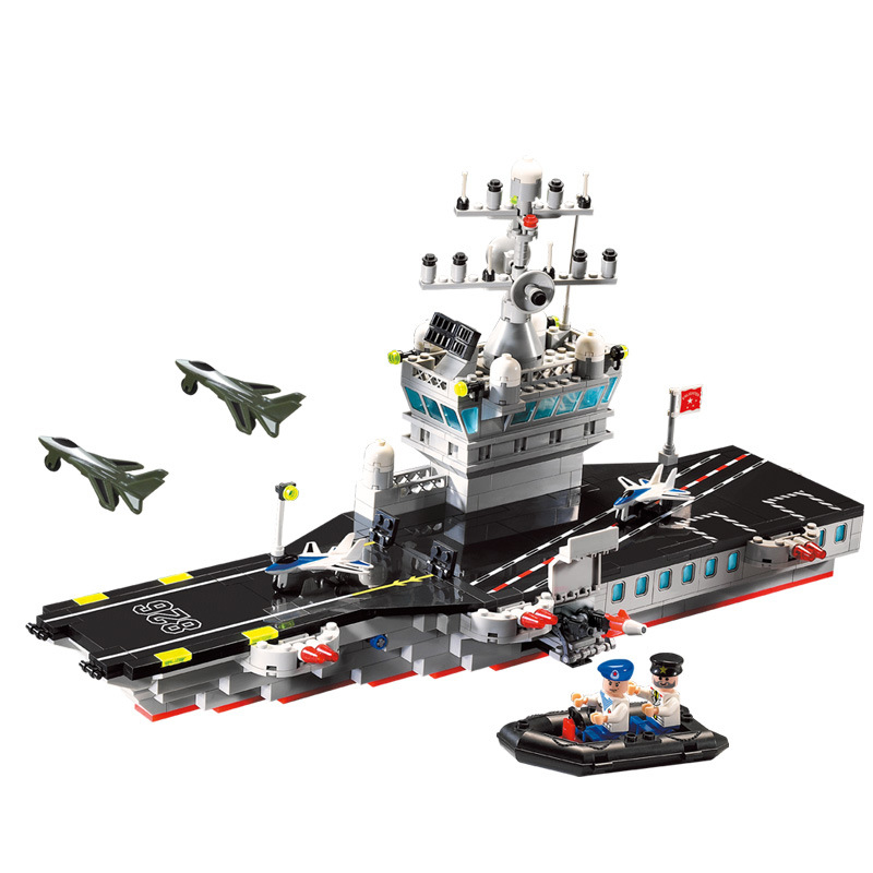 508PCS Military Building Blocks Brick Toys Compatible with lepin Aircraft Carrier Building Blocks  Educational Toys for Children superwit 72pcs big size city diy creative building blocks brick compatible with duplo sets lepin educational toys children gifts