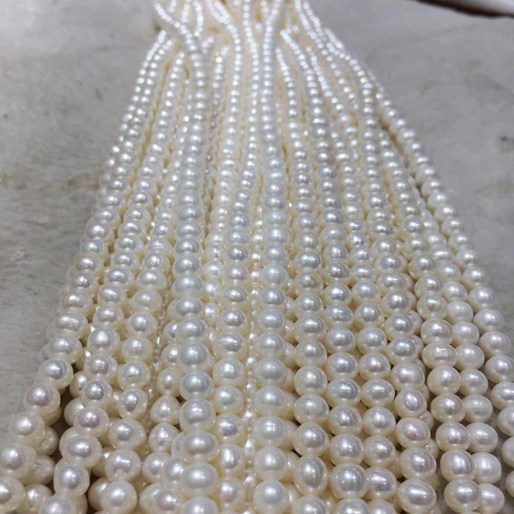 Natural Freshwater Cultured Pearl Strands Strings for Women Necklace Jewelry 15/""