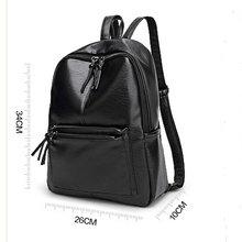 Bolish New Travel Backpack Korean Women Female Rucksack Leisure Student School bag Soft PU Leather Women Bag