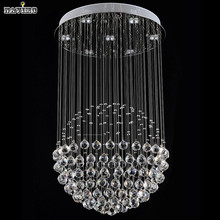 Modern LED Crystal Ceiling Lights Stair Hanging Lamps Fixtures With Multi-Size Ac 100V to 240v For Indoor Home Kingdom Lighting