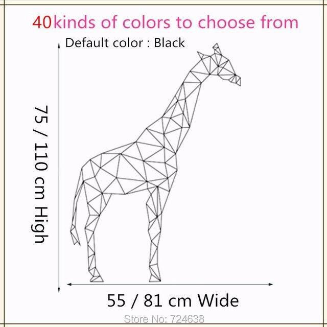 Geometrische Giraffe Wandtattoo Vinyl Aufkleber Geometrie Tier Serie
