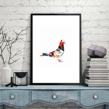 Haochu акварельная картина мира голубь импрессионист маленькая