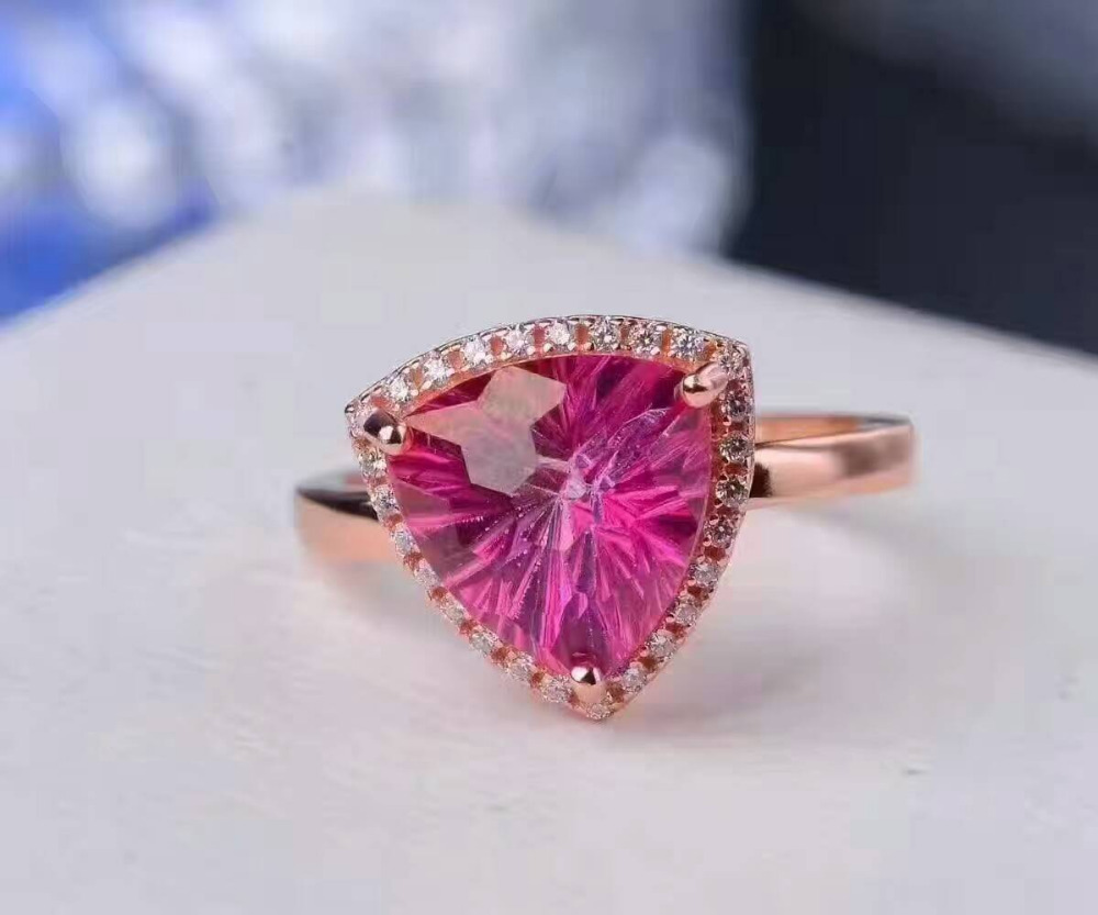 Natural pink Firework topaz Ring Pendant Natural Gemstone Jewelry ...