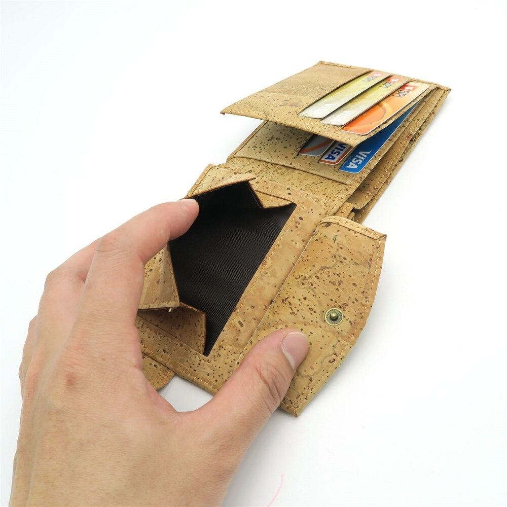 Natural Cork Plånbok för män cork vegan handgjorda avslappnade - Plånböcker - Foto 4