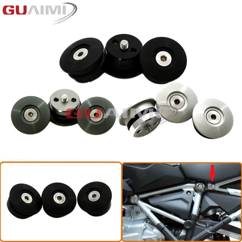 CNC Frame Plug Set (24MM) for BMW R1200GS LC ADVENTURE ADV 2014 2015 2016 2017 R 1200 GS R1200 GS