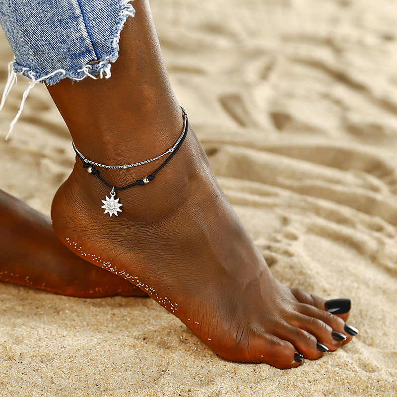 Bohemian สำหรับผู้หญิงแฟชั่น WAX String Lacing เท้า VINTAGE เครื่องประดับสร้อยข้อมือลูกปัดแฟชั่นเครื่องประดับชายหาด