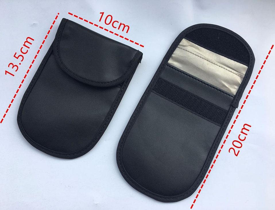 Car Keyless Home Storage Bags Organization Phone Car Key Keyless Entry Fob Signal Guard Blocker Black Faraday Bag                (2)