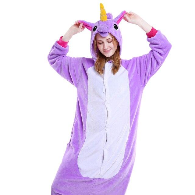 294e9ca88d Winter Warm Women Pajamas Unicorn Adult unicorn Pajama Set Flannel Cartoon  Animal Pijama Cosplay Onesie Women Homewear Sleepwear