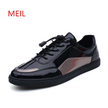 Men Shoes Luxury Leather Sapato Masculino Casual Flat sneakers Zapatos Hombre Deportiva Loafers Chaussures Hombre Hommes Cuir цены онлайн