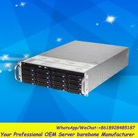Стабильный огромный хранения 16 Отсеков 3u hotswap стойки NVR NAS сервера шасси S35504