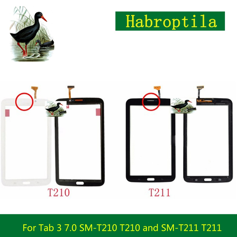 7.0 For Samsung Galaxy Tab 3 7.0 SM-T210 T210 and SM-T211 T211 Touch Screen Tablet Digitizer Sensor Front Outer Glass Lens Pane