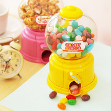 Newly Cute Sweet Mini Candy Machine Bubble Gumball Dispenser Coin Bank Kids Toys Children Gift TE889