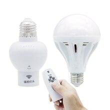 Новейший E27 беспроводной умный пульт дистанционного управления держатель лампы Поддержка затемнения и синхронизации для AC85-265V светодиодный ночник