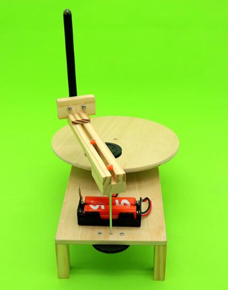 Happyxuan DIY Listrik Plotter Menggambar Robot Kit Fisika Ilmiah - Mainan bangunan dan konstruksi - Foto 6