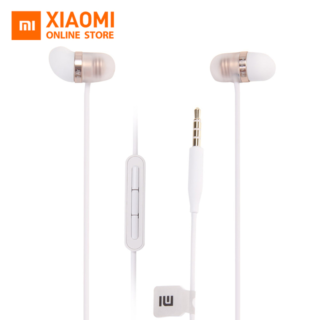 Original Xiaomi Capsule Earphone Silicone Earbuds 45 degree In-Ear Angle Hand Free with Mic.3.5mm for IOS XiaoMi Smartphone