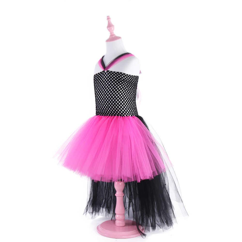 Детские праздничные платья в стиле рок-звезды королевы, фатиновое платье-пачка для девочек, свадебное платье с цветами для девочек, Детский костюм на день рождения, vestidos