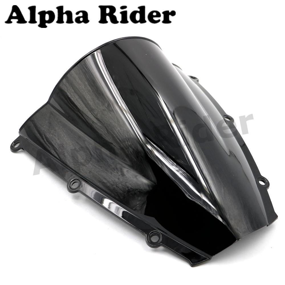 Double Bubble Motorcycle Windscreen Windshield For Honda F5 2003 2004 CBR600RR CBR 600RR ABS Black Motorbike Front Glass