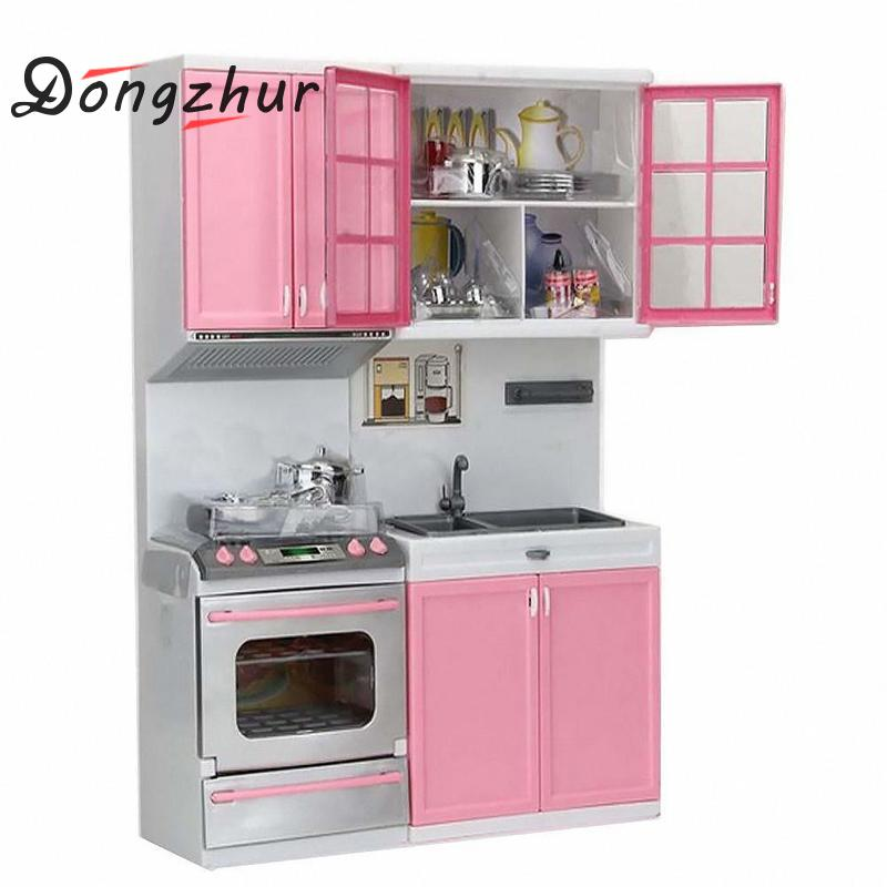 Dongzhur Kid Kitchen Pretend Play Cook Cooking Set Pink Cabinet Stove Fun Learning & Educational Toy салатники fun kitchen