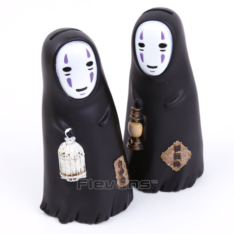 Cute Anime Cartoon Spirited Away No Face Faceless Man PVC Figure Collectible Model Toy Piggy Bank 2 Styles 16cm 4pcs lot big stainless steel anal dildo anal plug pull beads butt plug erotic toys for gau anal penis adult sex toys for women