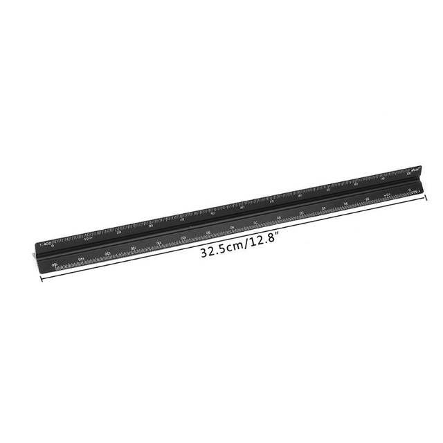 попсокет 30cm Triangular Architect Scale Ruler Aluminum Scale Ruler for Drafting Dropshipping