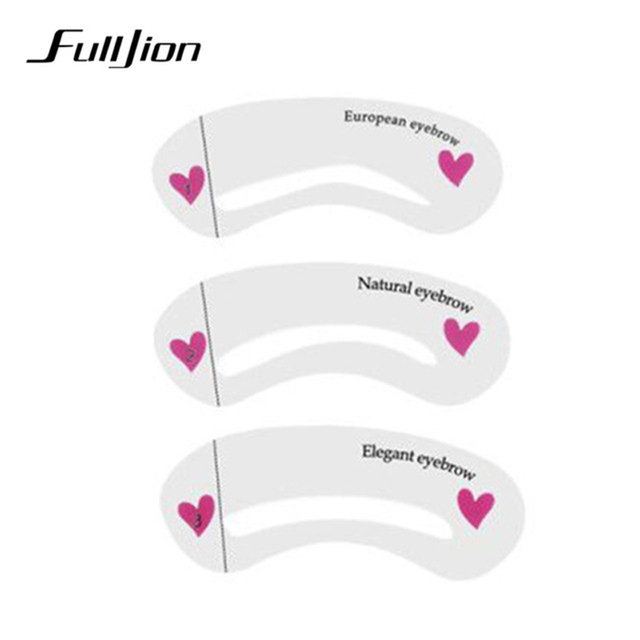 Fulljion 3 Styles Eyebrow Shaping Stencils Grooming  Makeup Tools Eyebrow Template Stencil For Women Beauty Tools Accessories 1