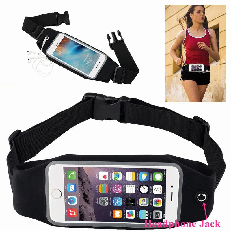 Portefeuille Running Waist Fanny Pack Belt Pouch Case for iPhone 6 6S Plus 7 8 X Samsung Galaxy