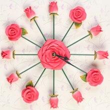 3D Rose font b Clock b font Saat font b Wall b font font b Clock
