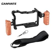 CAMVATEกล้องFull Frame Cage RigแบบDual Handle Gripไหล่สายคล้องรองเท้าสำหรับDSLRกล้องPanasonic GH5