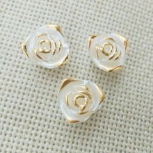 broonch jewelry making Cabochon cameo bezel Flat Back imitation Pearls rose flower leaf filigree Beads have hole slide chrams(China)