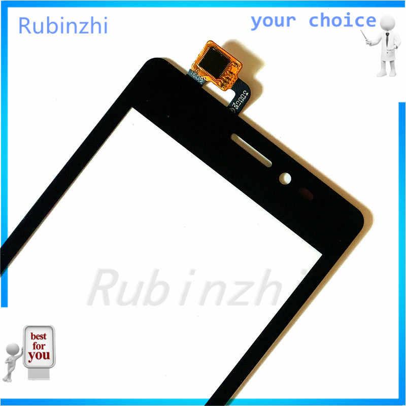 RUBINZHI Cep Telefonu dokunmatik ekran digitizer Paneli Için Prestigio Wize C3 PSP 3503 DUO PSP3503 Cam Dokunmatik Ekran Sensörü + 3 m bant