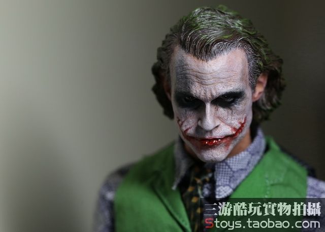 "1/6 scale Batman Joker Heath Ledger Head shape Carved doll accessories for 12"" Action Figure,Body and clothes are not included"