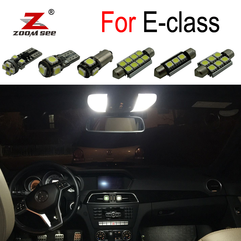 Perfect Canbus White LED Bulb Interior Map Dome Reading Light Kit For <font><b>Mercedes</b></font> Benz <font><b>E</b></font> W210 W211 W212 S210 <font><b>S211</b></font> S212 (1995-2015) image