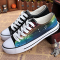 Lace-Up Hand-Painted Canvas Shoes Harajuku Casual Shoes Starry Sky Doodle Women Sneakers Summer Low Loafers Discount Product Nmd