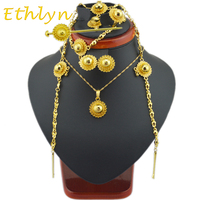 NEW FASHION Ethiopian Jewelry Sets With Hair Pcs 24k Gold Plated Jewelry Sets For Ethiopian Women